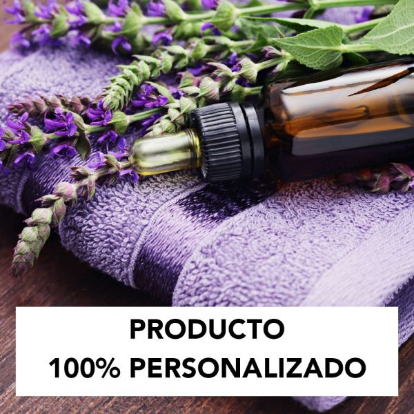Aceite facial ecológico y vegano personalizado