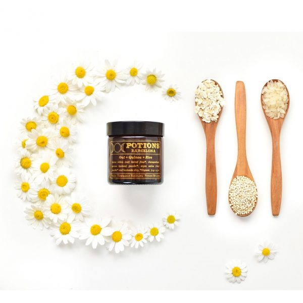 Potions BCN Superfoods mask, arroz, quinoa y avena, cosmética vegana.