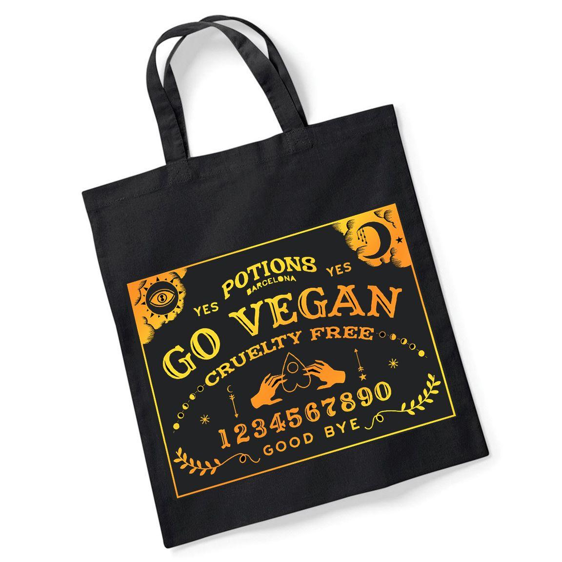 Bolso solidario Go Vegan en algodón orgánico de Potions BCN