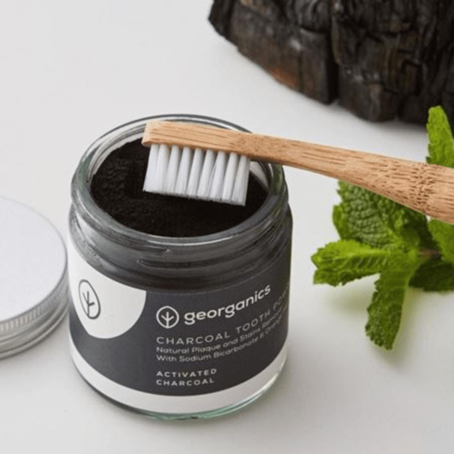 Polvo blanqueador dental carbón activado