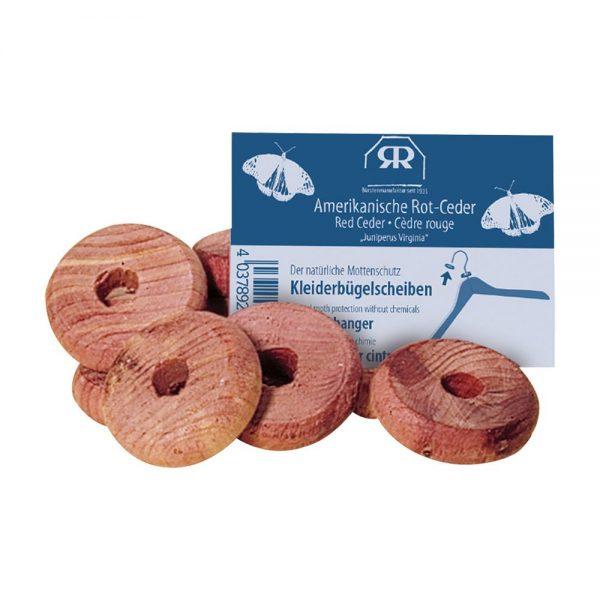 Discos de cedro rojo para perchas, antipolillas natural sin químicos Potions BCN