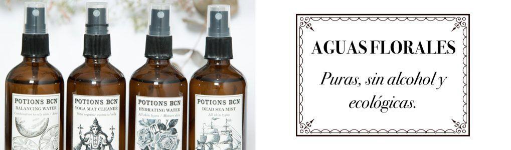 Aguas florales ecológicas, Potions BCN cosmética vegana
