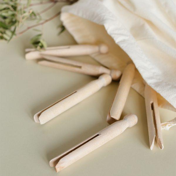 Pinzas de madera para colgar la ropa - Potions BCN