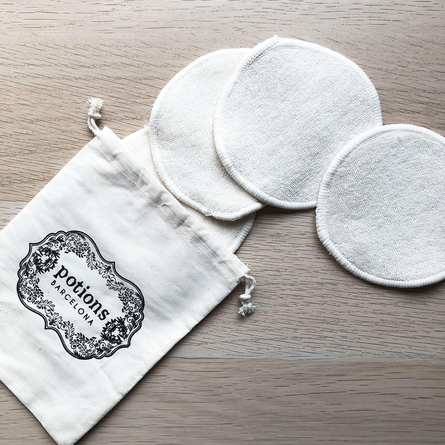 Discos desmaquillantes reutilizables de algodón ecológico