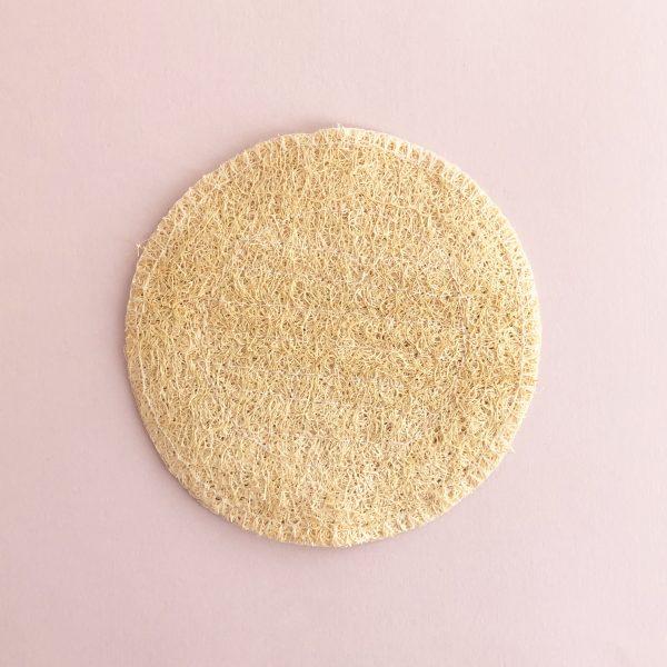 Jabonera redonda de lufa natural de Potions BCN