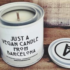 Barcelona with V, vela vegana con aroma a banana