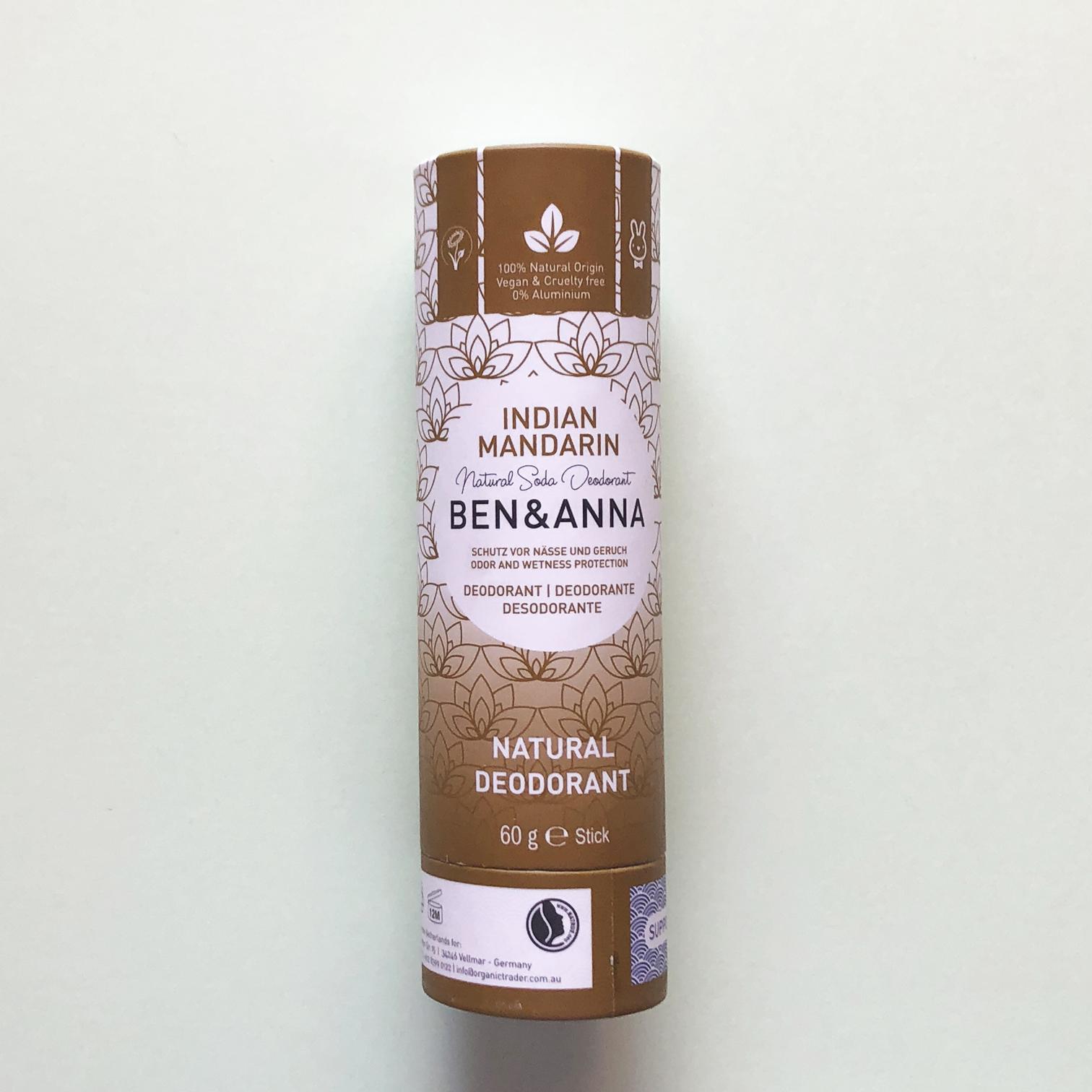 Desodorante vegano natural en stick Ben & Anna - Potions BCN