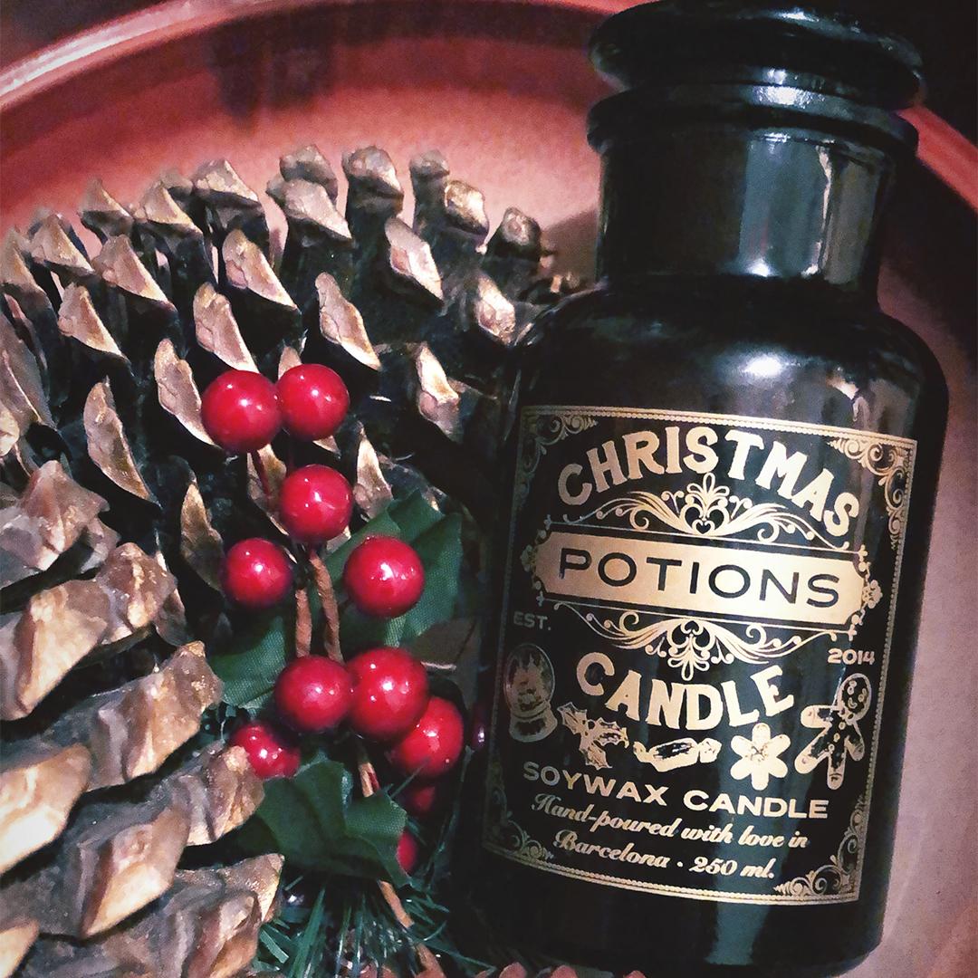 Vela de navidad vegana, Apothecary Candle, farmacia - Potions BCN