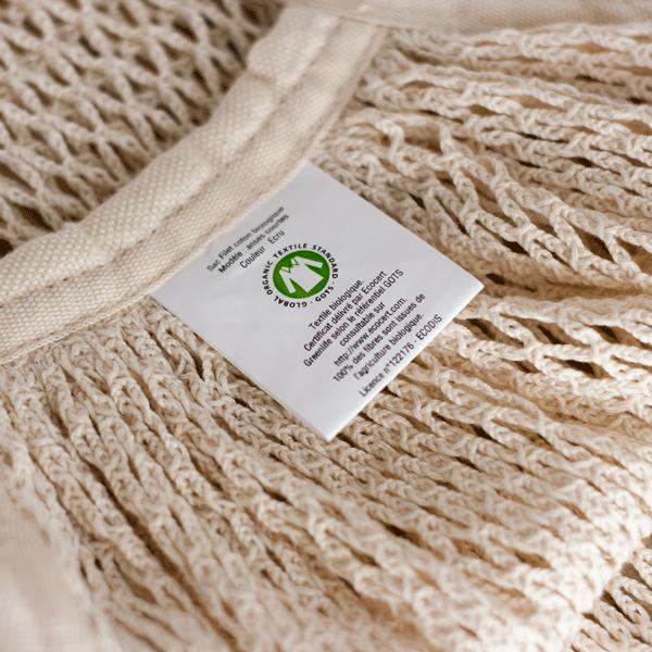 Bolsa de malla de algodón ecológico