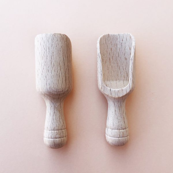 Salt scoop, cucharita de madera para sal, azúcar, especies - Zero Waste - Potions BCN