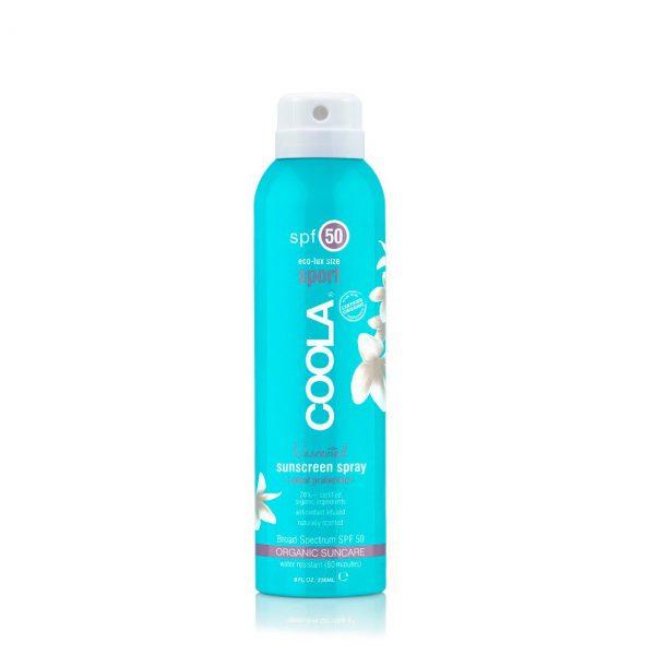 Coola Sport SPF50 Protector solar en spray sin perfume, vegano y ecológico - Potions BCN