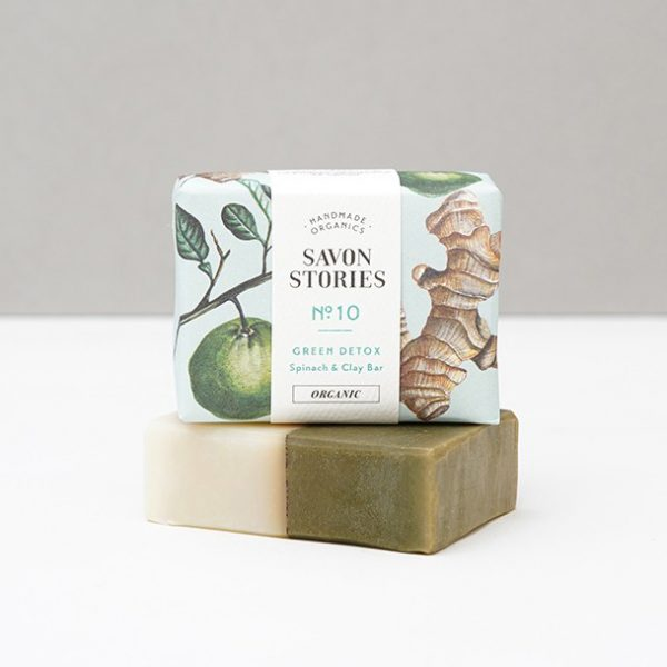 Jabón ecológico vegano detox espinaca Potions BCN Savon Stories
