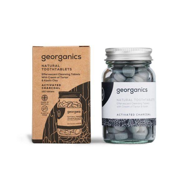 Dentífrico en pastillas carbón zero waste vegano Georganics Potions BCN