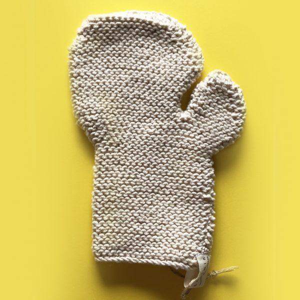 """""""Toockies"""" Guante circulatorio exfoliante de algodón ecológico"""