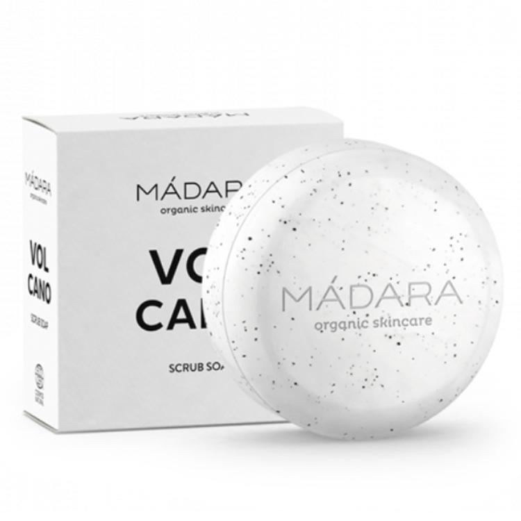 Jabón sólido exfoliante volcano de Mádara