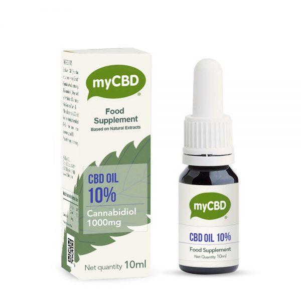 Aceite CBD 10% myCBD dolor menstrual, migrañas