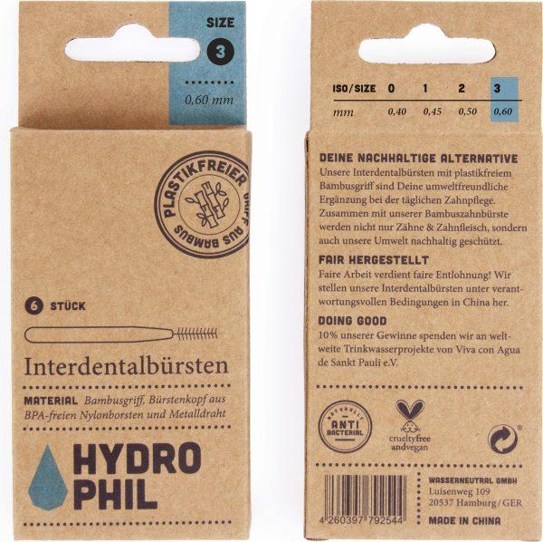 Hydrophil cepillos interdentales de madera vegano Potions BCN