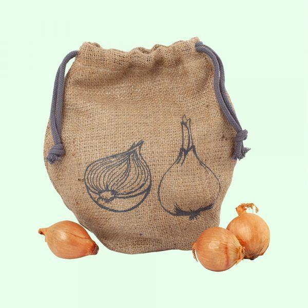 Bolsa ecológica para cebollas