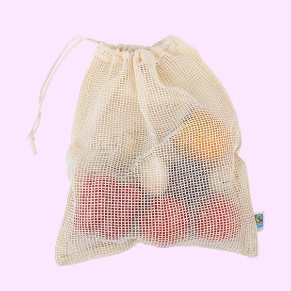 Bolsas para frutas y verduras de algodón ecológico