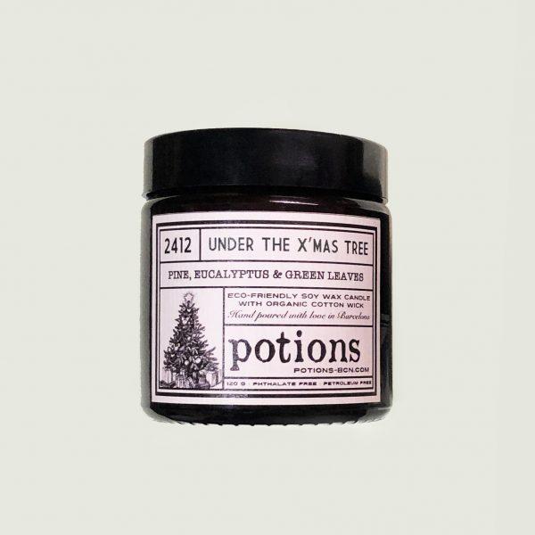 Vela vegana Navidad Christmas Tree Potions BCN