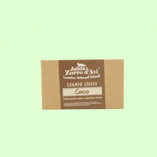 Champú sólido ecológico de coco nutritivo y reparador. Vegano