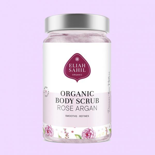 Exfoliante orgánico de rosa y argán Eliah Sahil potions bcn