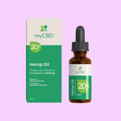 Aceite CBD 20% myCBD dolor menstrual, migrañas