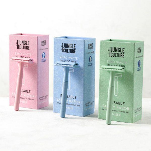 Jungle Culture maquinilla reutilizable depilar efeitado zero waste vegan