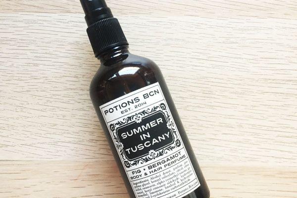 Summer in Tuscany. Perfume corporal y para el cabello de Potions BCN