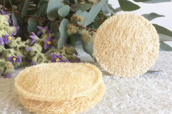 Discos de lufa reutilizables para peeling o exfoliación suave - Potions BCN